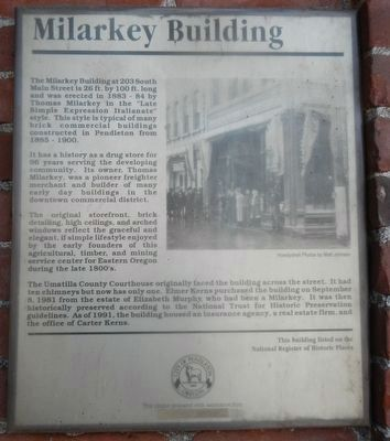 Milarkey Building Marker image. Click for full size.