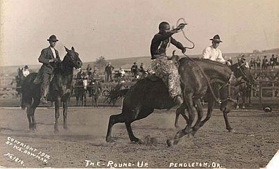 George Fletcher at the Pendleton Round-Up image. Click for full size.