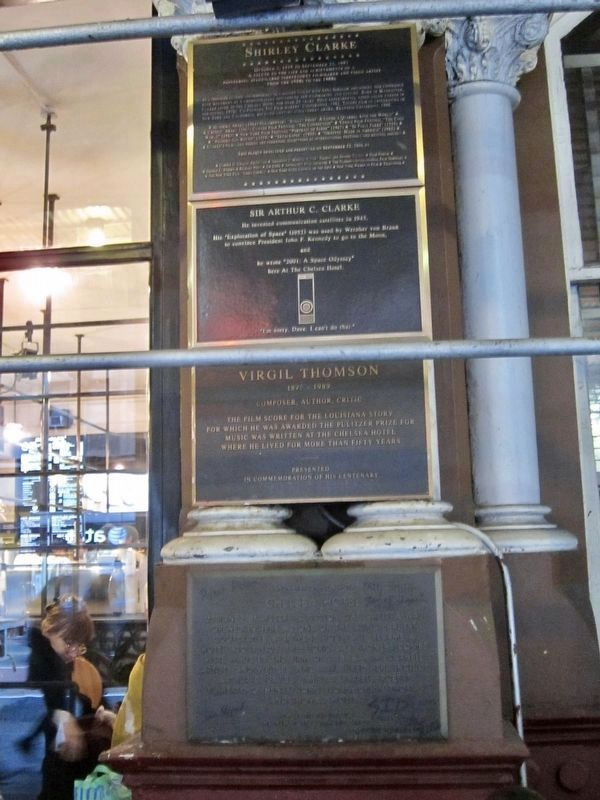 Chelsea Hotel Marker - Wide View image. Click for full size.