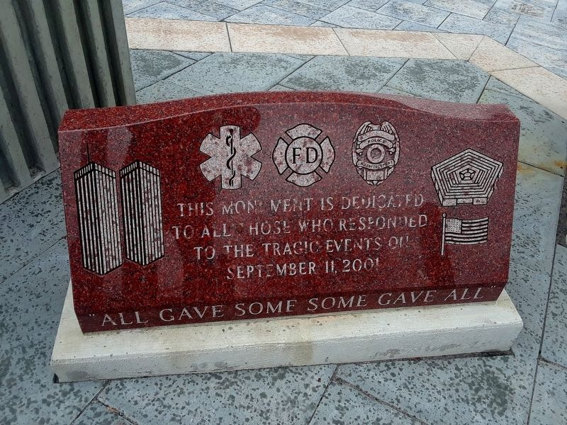 9/11 First Responders Memorial Marker image. Click for full size.