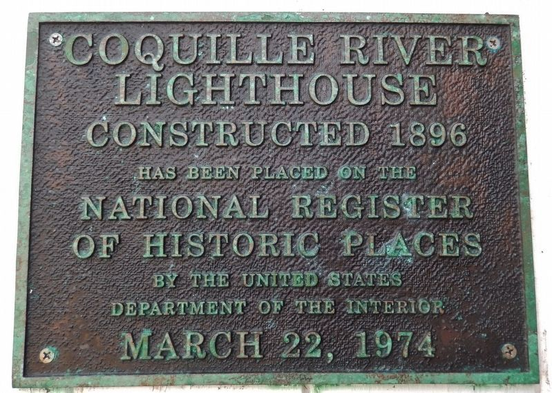 Coquille River Lighthouse (<i>National Registry of Historic Places</i>) image. Click for full size.