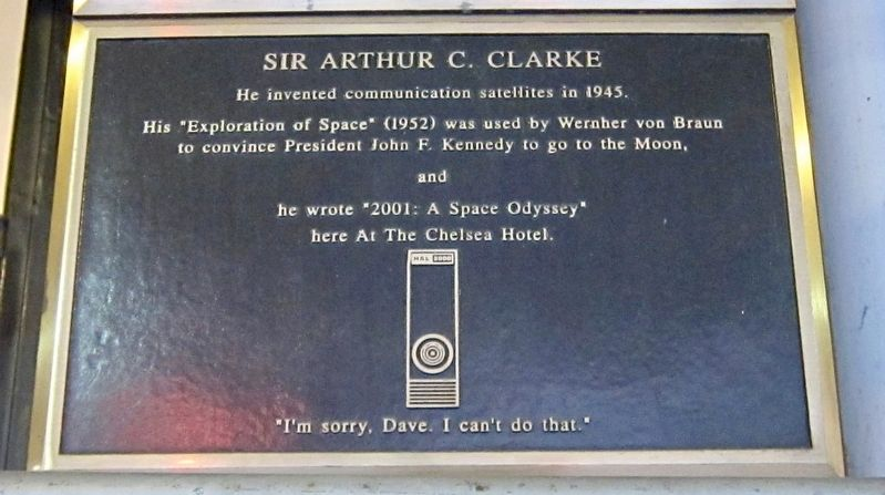 Sir Arthur C. Clarke Marker image. Click for full size.
