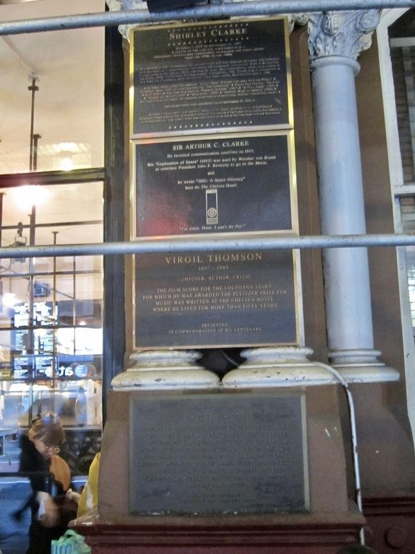 Sir Arthur C. Clarke Marker - Wide View image. Click for full size.