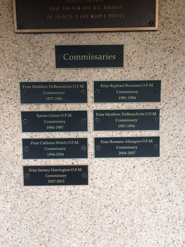 Commissaries Plaques image. Click for full size.