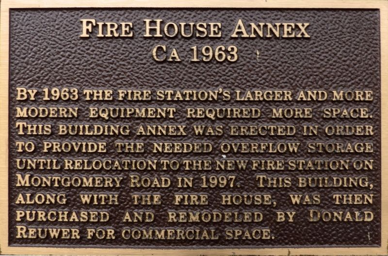 Fire House Annex Marker image. Click for full size.
