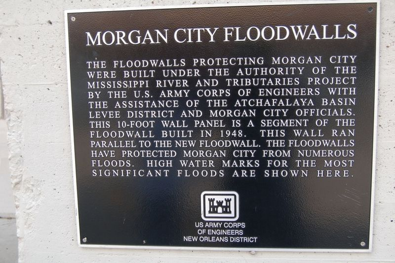 Morgan City Floodwalls Marker image. Click for full size.