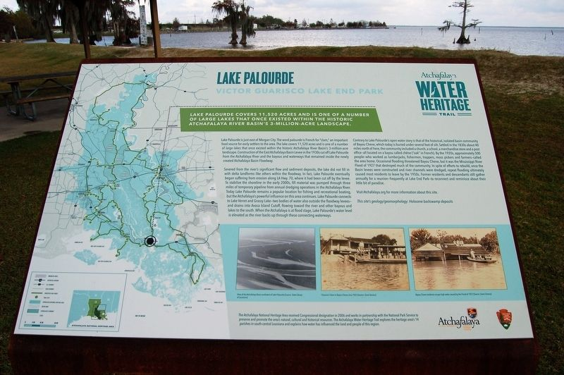 Lake Palourde Marker image. Click for full size.