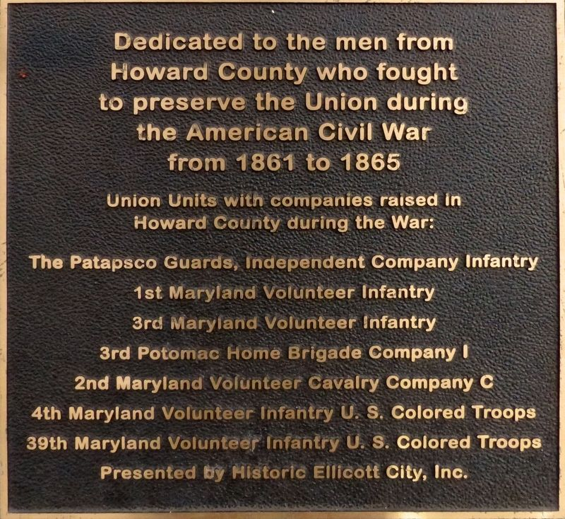 To Preserve the Union Marker image. Click for full size.