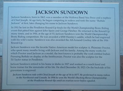 Jackson Sundown Marker image. Click for full size.