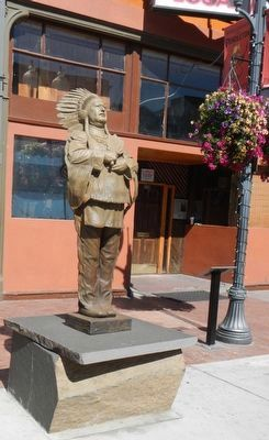 Chief Clarence T. Burke Statue and Marker image. Click for full size.