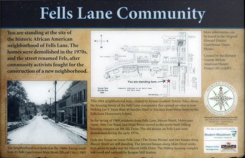 Fells Lane Community Marker image. Click for full size.
