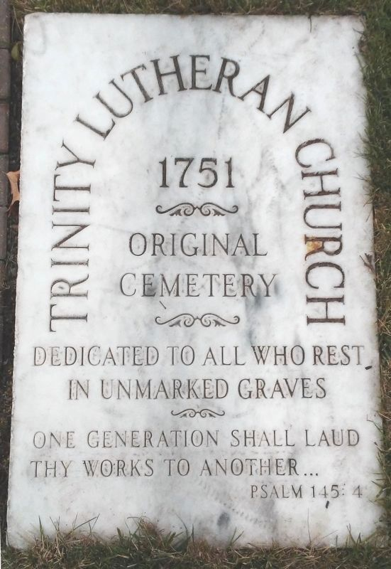 Trinity Lutheran Church Original Cemetery Marker image. Click for full size.