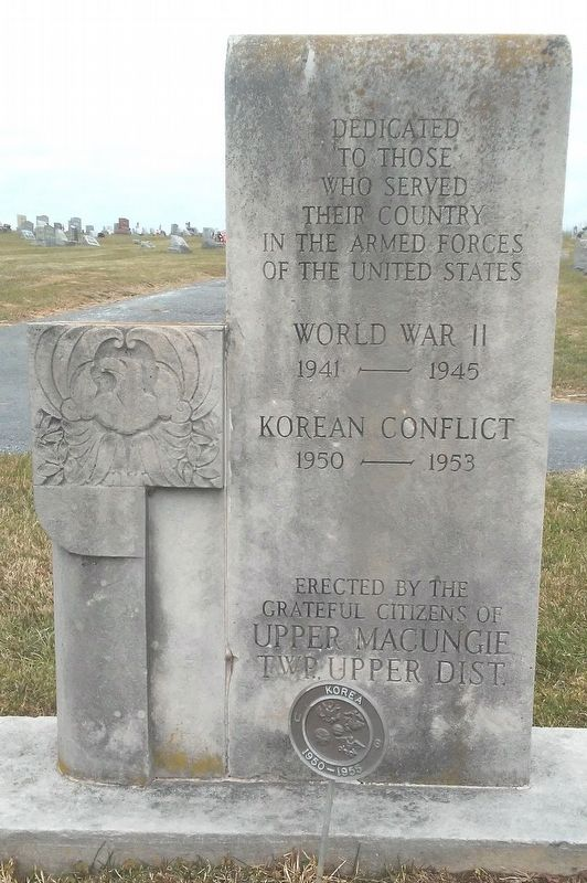 World War II and Korean Conflict Memorial Monument image. Click for full size.