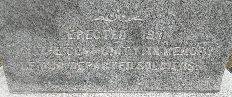 War Memorial Dedication Marker image. Click for full size.