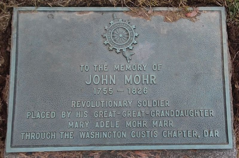 John Mohr, Revolutionary Soldier image. Click for full size.