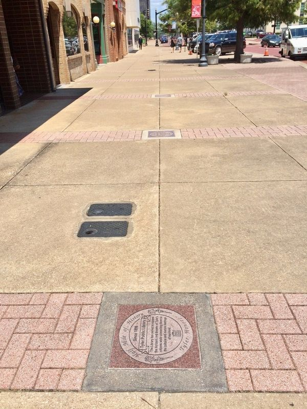 View of marker looking east on Ferguson Street. image. Click for full size.