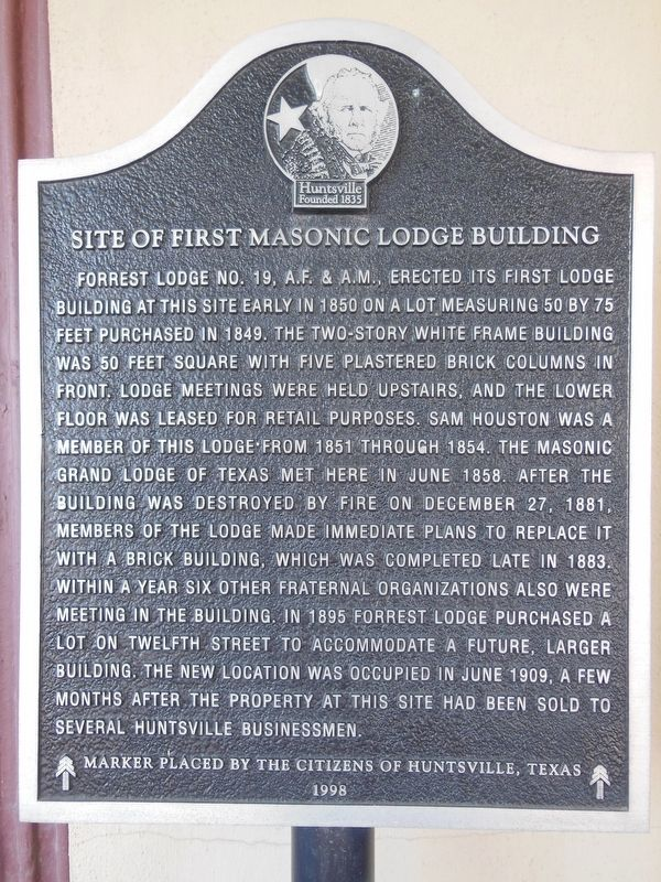 Site of First Masonic Lodge Building Marker image. Click for full size.