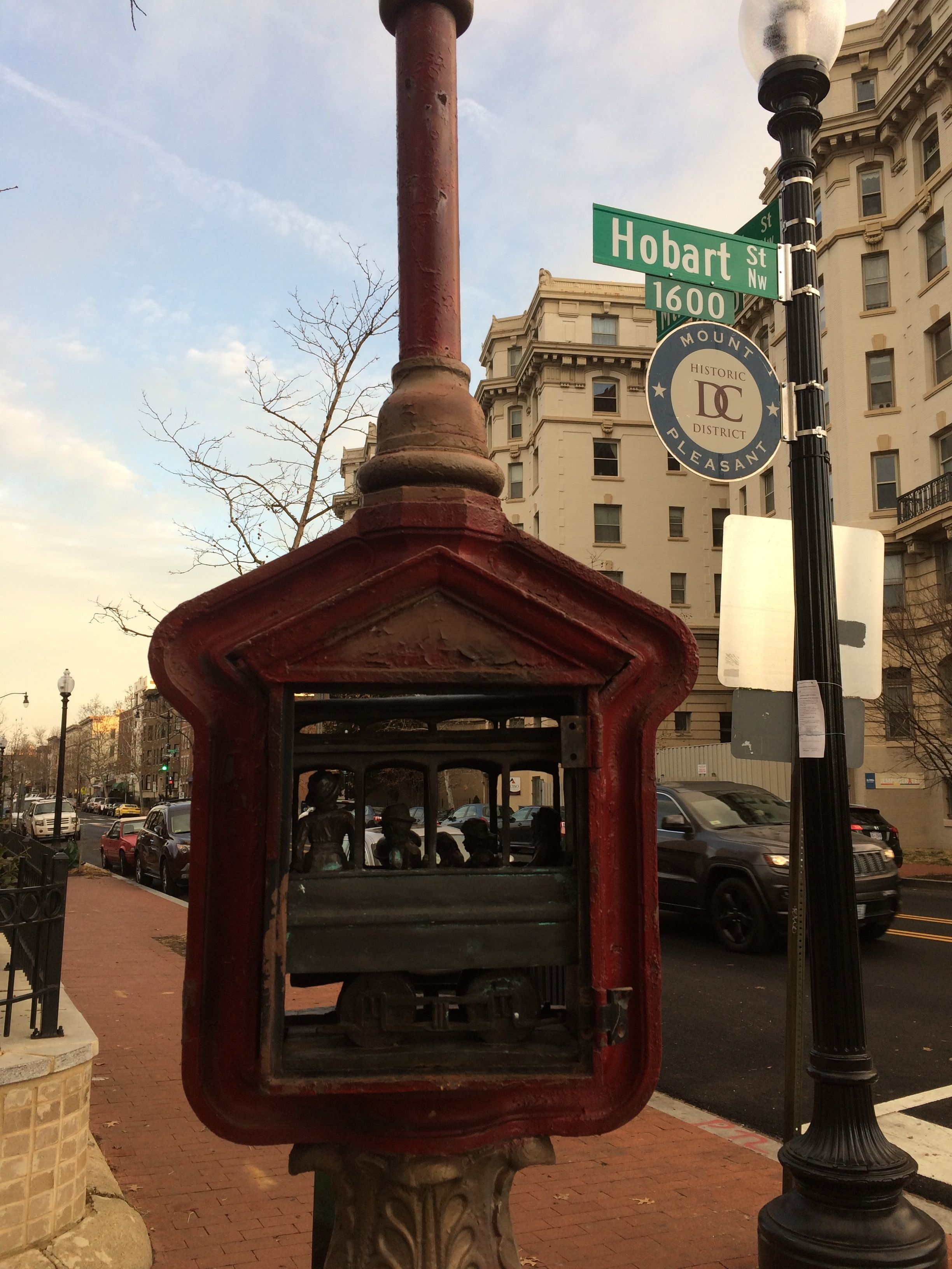 The Trolley Arrives in Mount Pleasant Marker