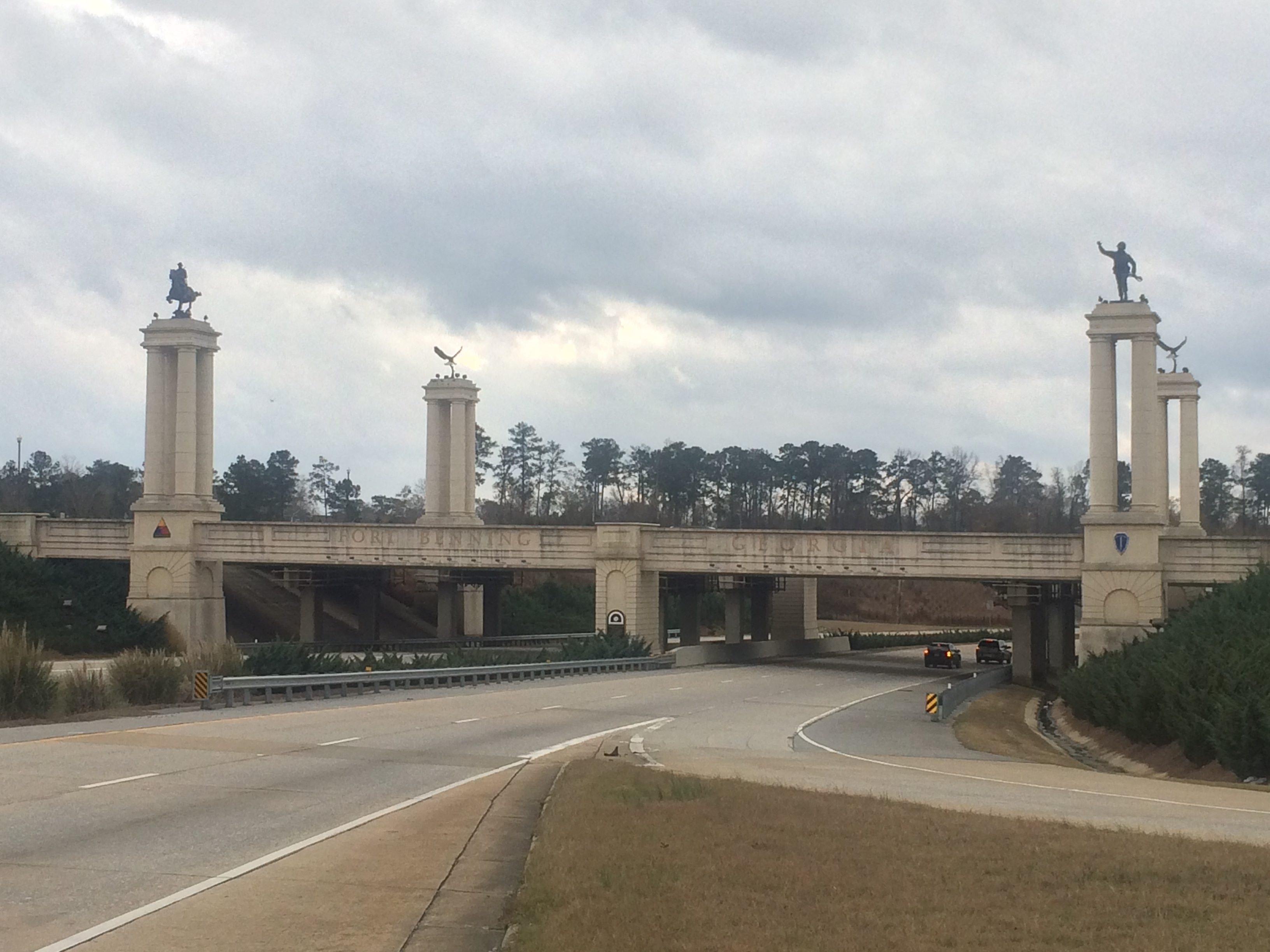 The Fort Benning Gateway at Interstate 185 and Victory Road