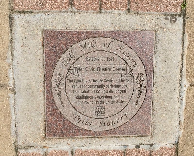Tyler Civic Theatre Center Marker image. Click for full size.