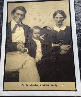 Pemberton Cottage Marker photo of Dr. Pemberton and his family image. Click for full size.