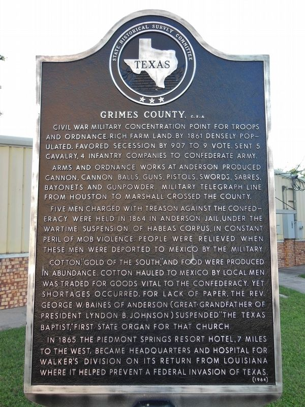 Grimes County, C.S.A. Marker image. Click for full size.