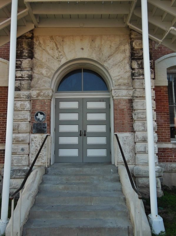 Grimes County Courthouse Entrance(<i>marker visible on wall, left of door</i>) image. Click for full size.
