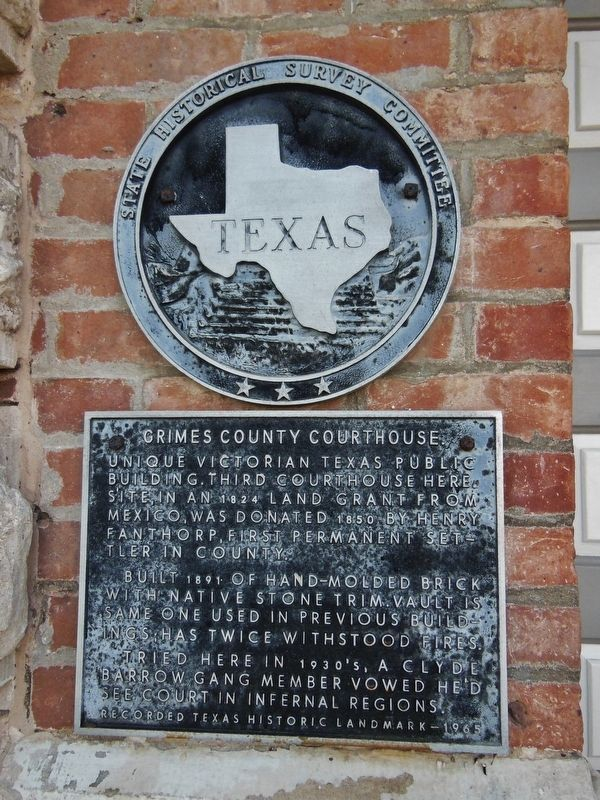 Grimes County Courthouse Marker image. Click for full size.