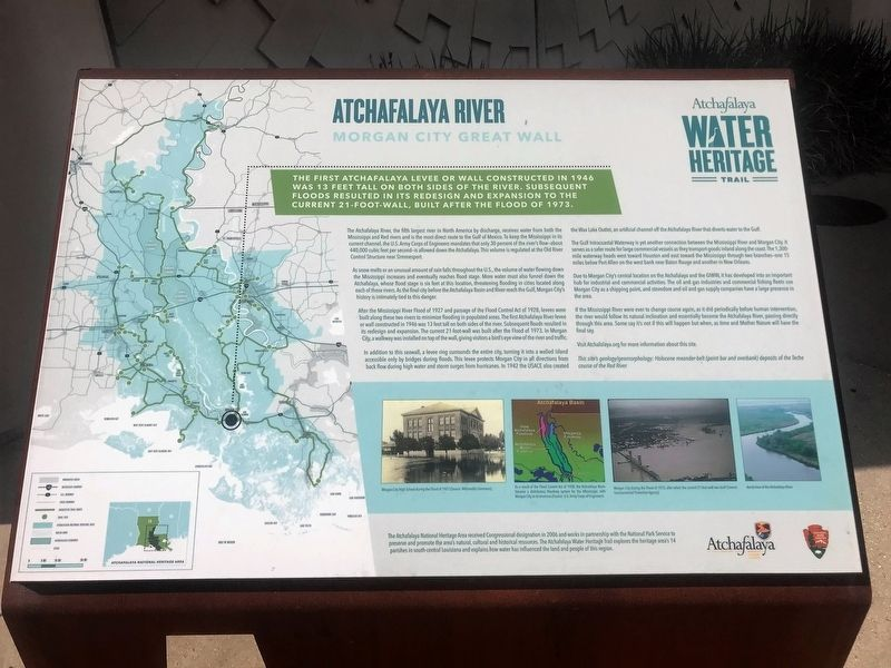 Atchafalaya River Marker image. Click for full size.