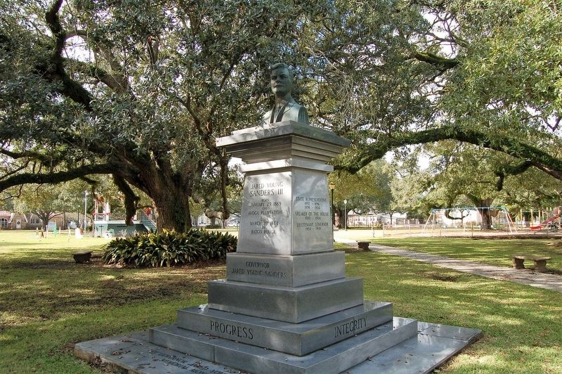 The Governor Jared Young Sanders Memorial Monument Marker image. Click for full size.