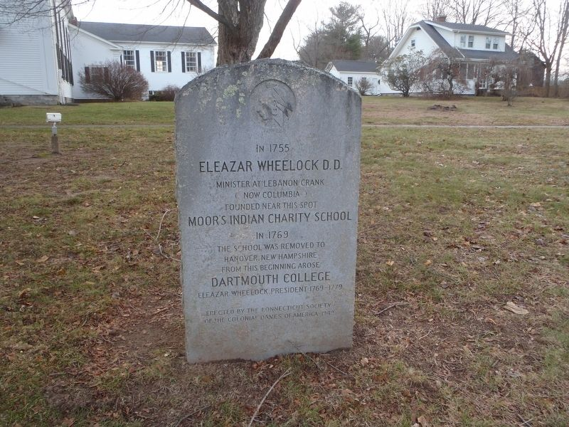 Eleazar Wheelock D.D. Marker image. Click for full size.