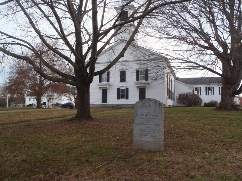 The Marker and Columbia Congregational Church image. Click for full size.