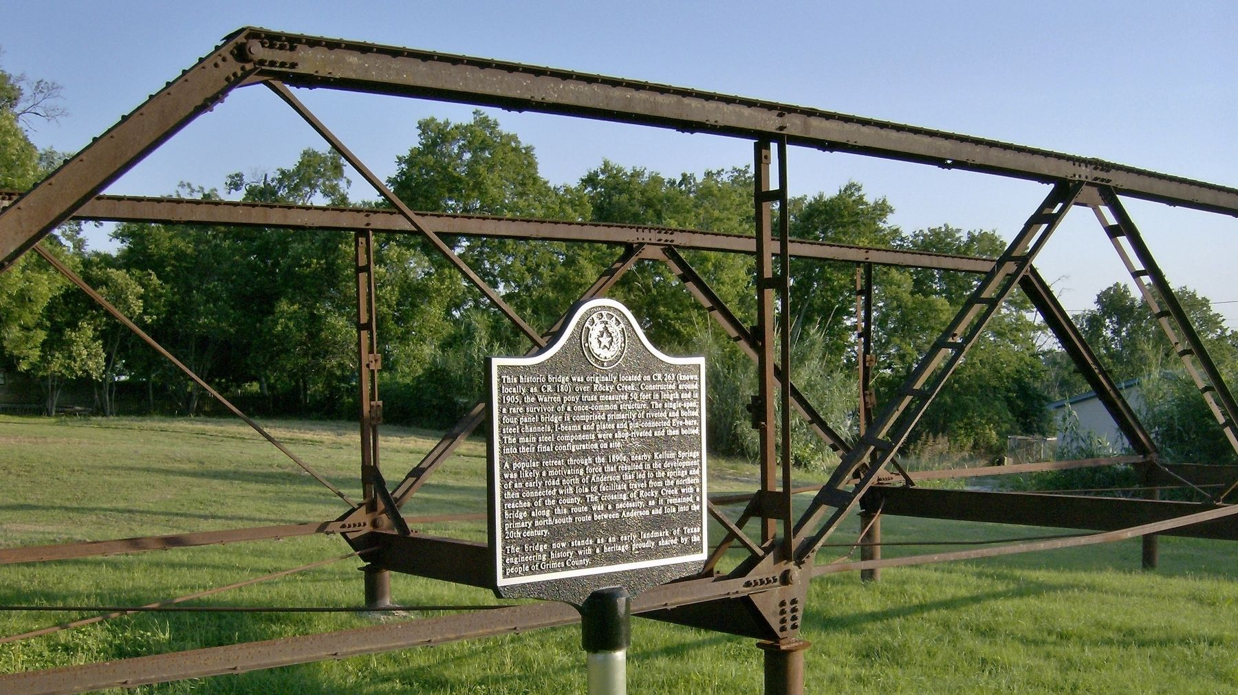 Rocky Creek Bridge Marker (<i>wide view</i>) image. Click for full size.