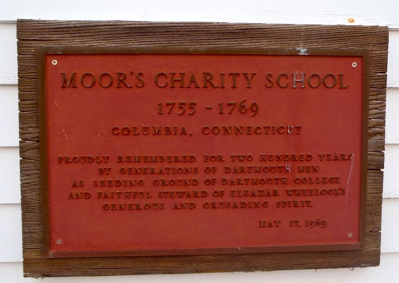 Moor's Charity School Marker image. Click for full size.