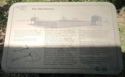The Blockhouse Marker image. Click for full size.
