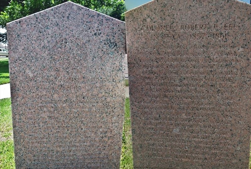 General Robert E. Lee / Colonel Robert E. Lee Marker (<i>front & back</i>) image. Click for full size.