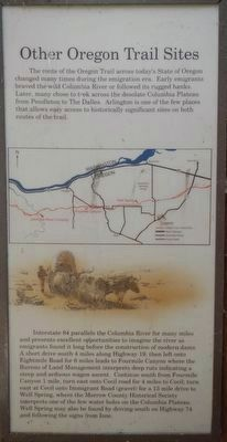 Other Oregon Trail Sites panel image, Touch for more information