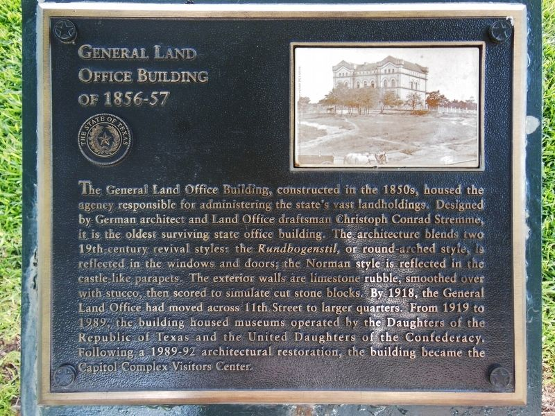 General Land Office Building of 1856-57 Marker image. Click for full size.