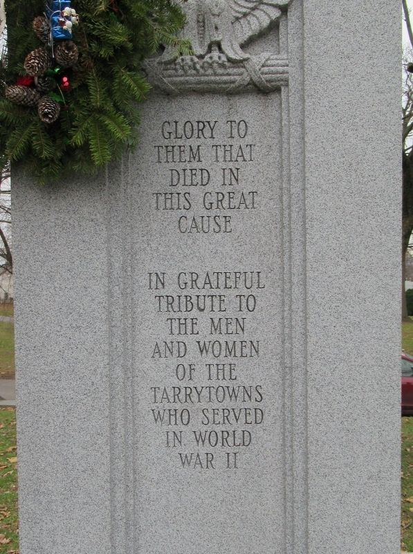 Tarrytown World War II Memorial image. Click for full size.
