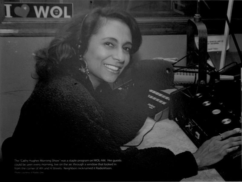 Cathy Hughes on microphone in WOL image. Click for full size.