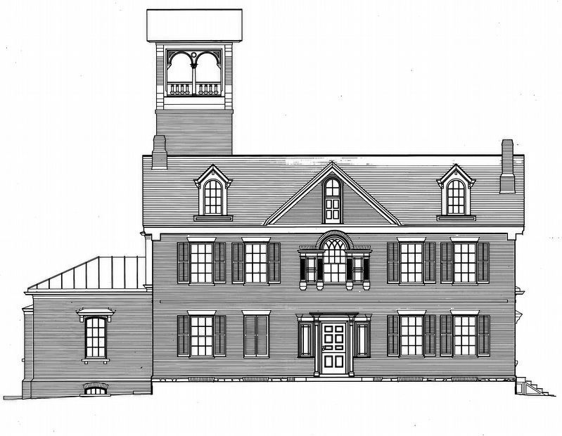 Lindenwald - West Elevation image. Click for full size.