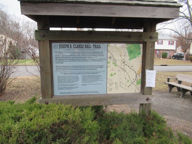 Joseph B. Clarke Rail Trail Marker image. Click for full size.