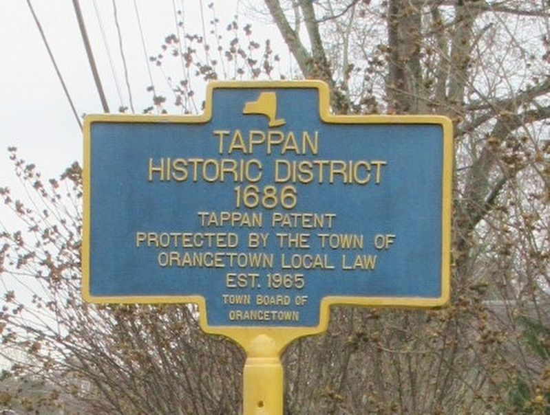Tappan Historic District Marker image. Click for full size.