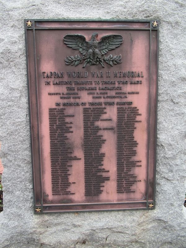 Tappan World War II Memorial image. Click for full size.
