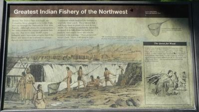Greatest Indian Fishery of the Northwest Marker image. Click for full size.
