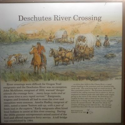 Deschutes River Crossing panel image. Click for full size.