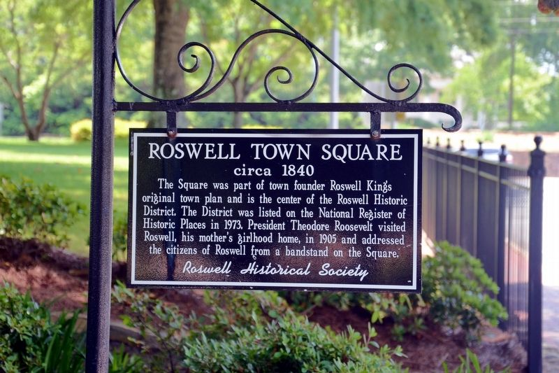 Roswell Town Square Marker image. Click for full size.