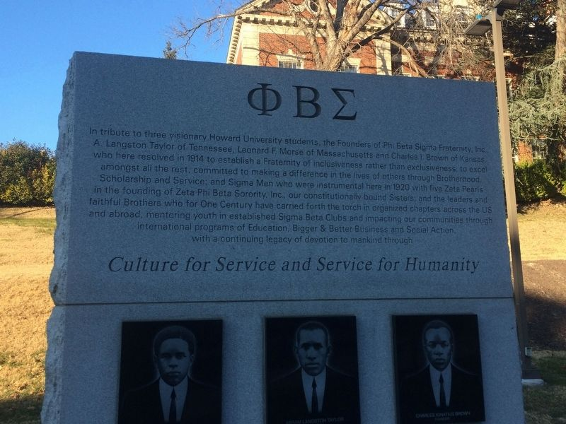 Top of Phi Beta Sigma Marker, front image. Click for full size.