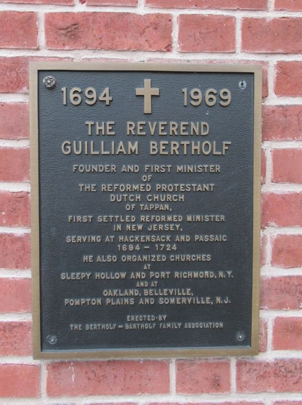 Rev. Guilliam Bertholf Marker image. Click for full size.