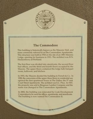 The Commodore Marker image. Click for full size.